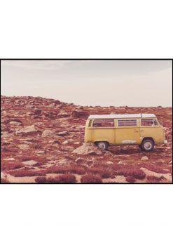 Yellow and White Minibus In Nature