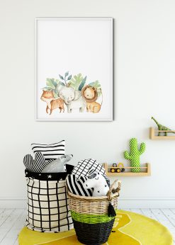Tiger Elephant And Lion Painting