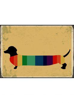 Retro Rainbow Strip Dog