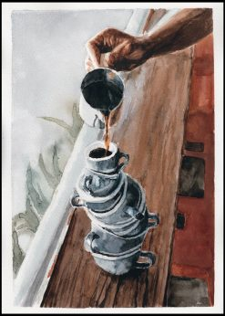 Pooring Coffee