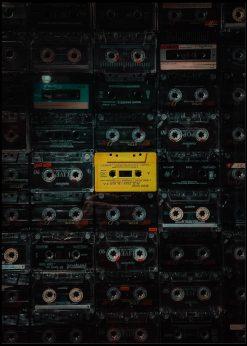Classic Yellow Cassette Tape