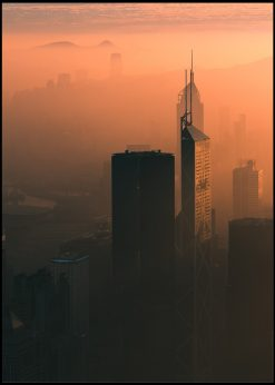 Skyscrapes in Sunset