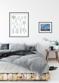 Illustration Of Pine Trees