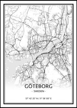 Map of Gothenburg nr.1