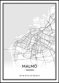 Map of Malmö nr.1