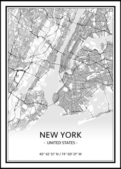 Map of New York nr.1