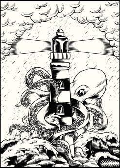 Giant Octopus Illustration