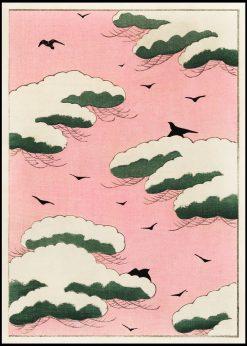 Japanese Pink Sky Illustration