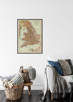 Antique Map of England and Wales