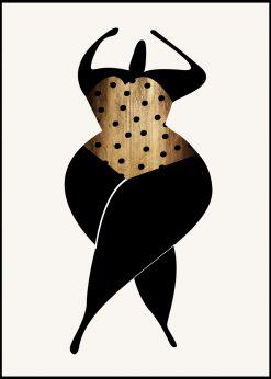Dancing In The Sun Black by Kubistika