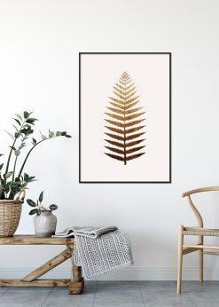 Golden Leaf No. 7 by Kubistika
