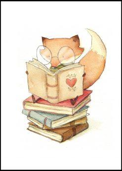 Reading Fox by Mike Koubou