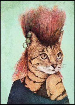 Punk Cat by Mike Koubou