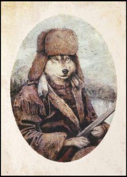 Hunting Wolf by Mike Koubistika