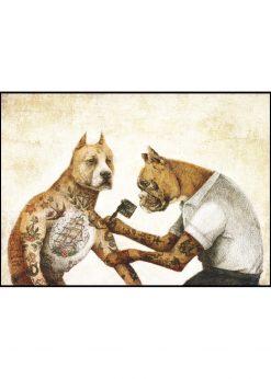Tattooed Dogs by Mike Koubou