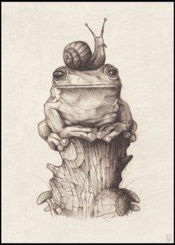 Frog and Snail by Mike Koubou