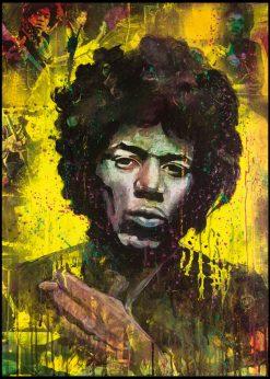 Jimi Hendrix Yellow by Didier Chastan