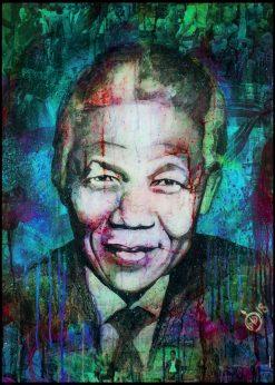 Nelson Mandela Blue by Didier Chastan