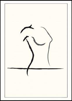 Female Qroquis Art by Linnea Nygren