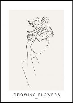 Growing Flowers No. 1 by Linnea Nygren