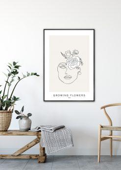 Growing Flowers No. 3 by Linnea Nygren
