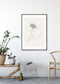 Woman Lineart by Linnea Nygren